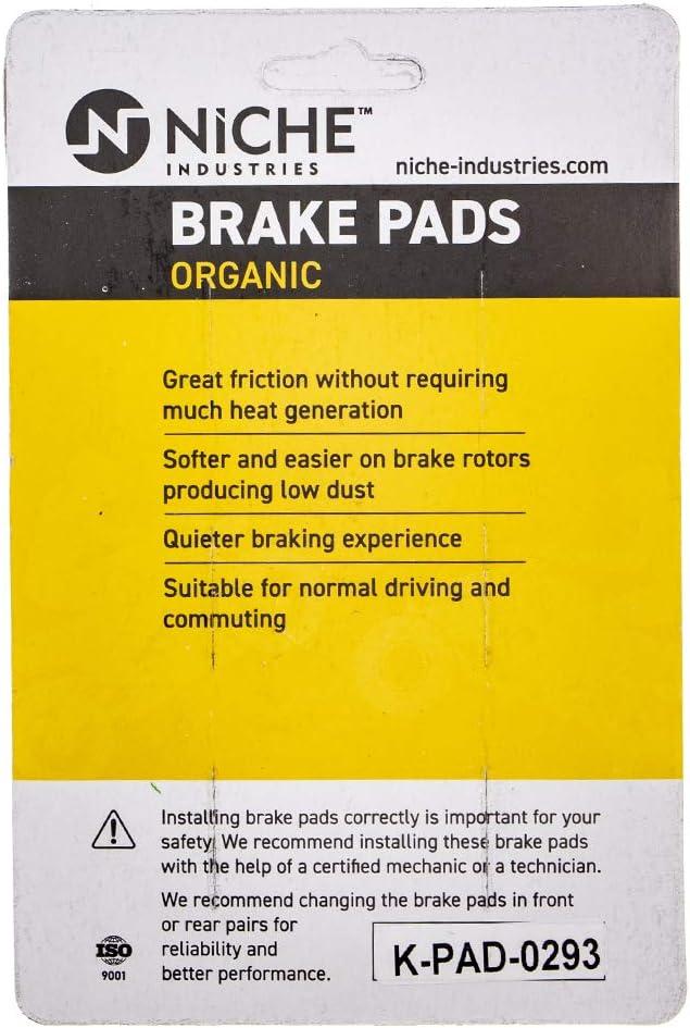 NICHE Brake Pad Set for Suzuki Boulevard GZ250 Savage 650 59100-26870 Front Semi-Metallic 2 Pack