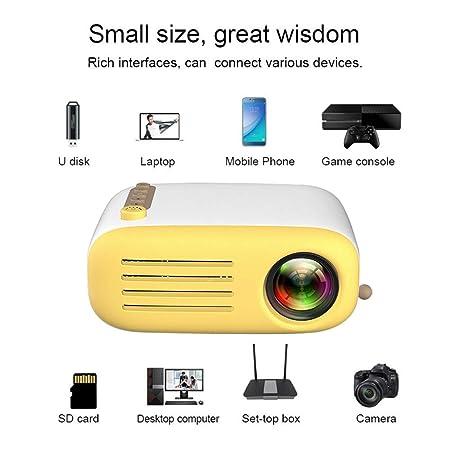 HAPPYLIANG Proyector portátil Mini proyector Video película Juego ...