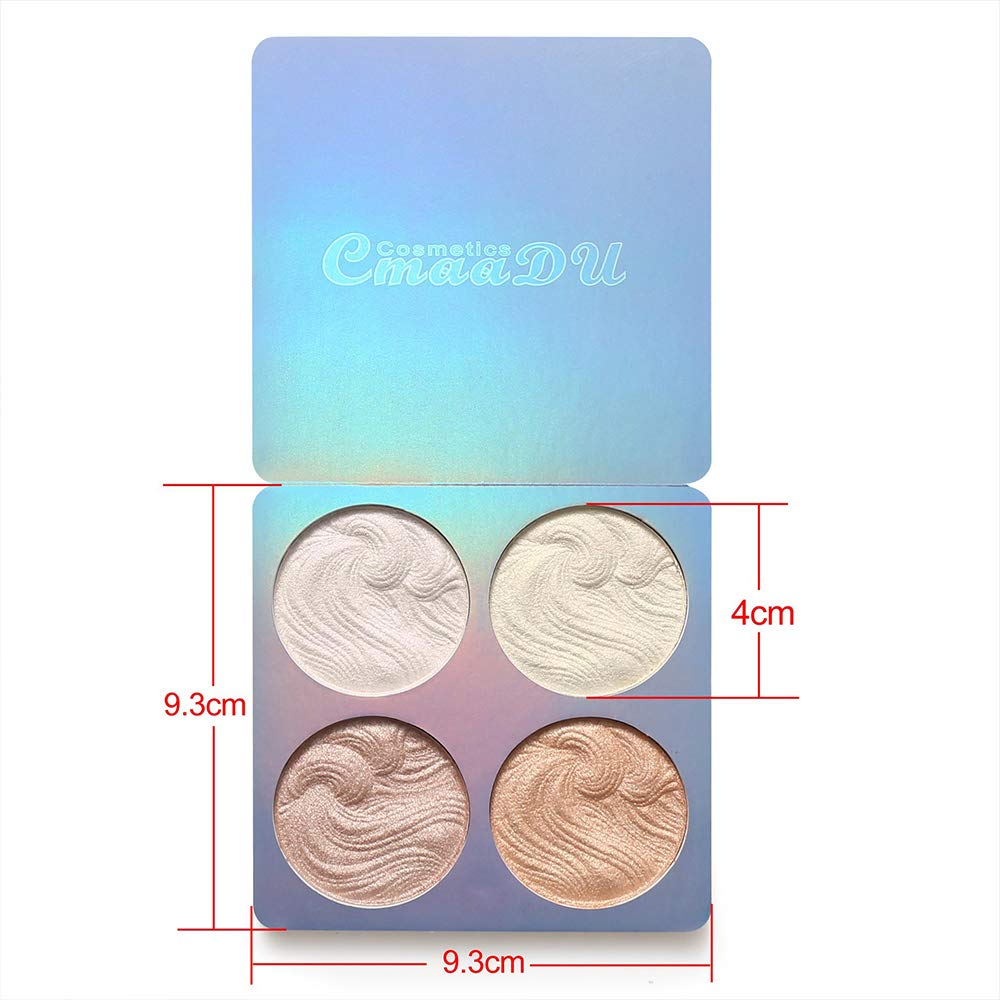 Highlighter Palette,Cmaadu Highlighter Makeup Palette, Glow Bronzer Highlighter Powder Kit (2)