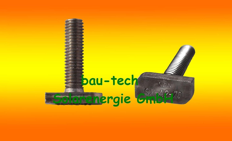 100 Stü ck Hammerkopfschrauben M8 x 40 von bau-tech Solarenergie