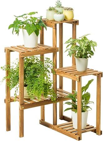 Chairs FL Estantes para Plantas/estanteria Jardin Soporte de Flores de Madera Estante de Flores de múltiples Capas Adecuado para Jardines Interiores y Exteriores y Otras escenas estanterias de Jardin: Amazon.es: Hogar