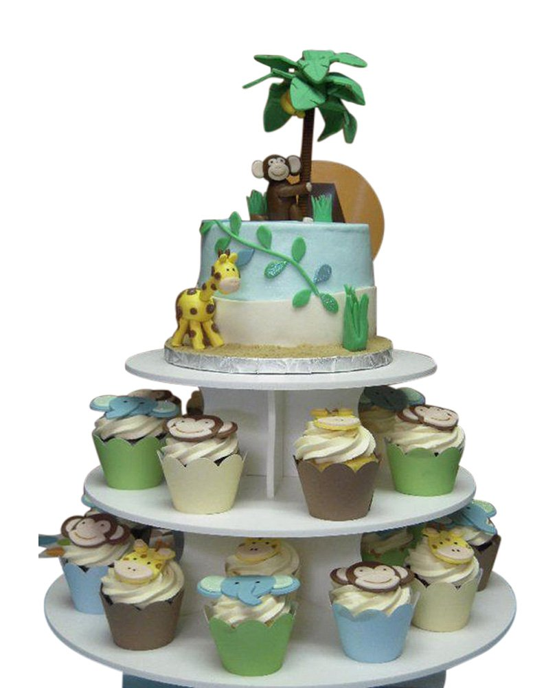 The Smart Baker 5 Tier Round Cupcake Stand PRO- Holds 90+ Cupcakes As Seen on Shark Tank Professional Cupcake Tower by The Smart Baker (Image #4)