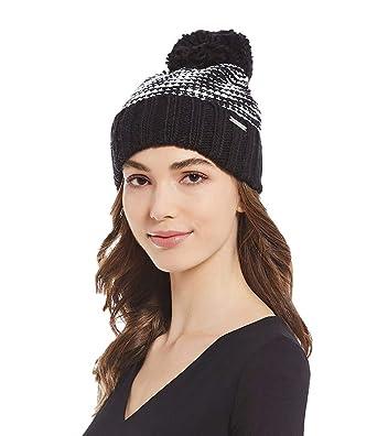 Michael Michael Kors Women`s Pom Pom Cable Knit Beanie (Black(537602 ... 4d7bfa96a86