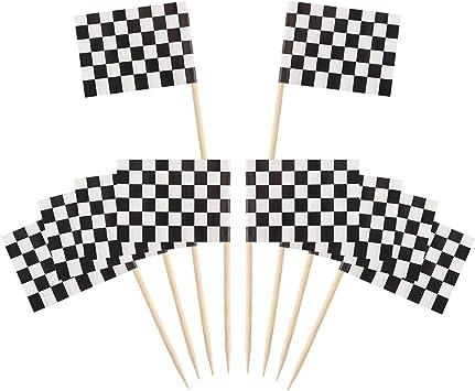 2.5 cm Zahnstocher Flaggen Leere,100 St/ücke Flaggenpicker Wei/ße Flaggen Deko-Picker Kleine Zahnstocher f/ür Party Kuchen Lebensmittel K/äseplatte Vorspeisen 3.5