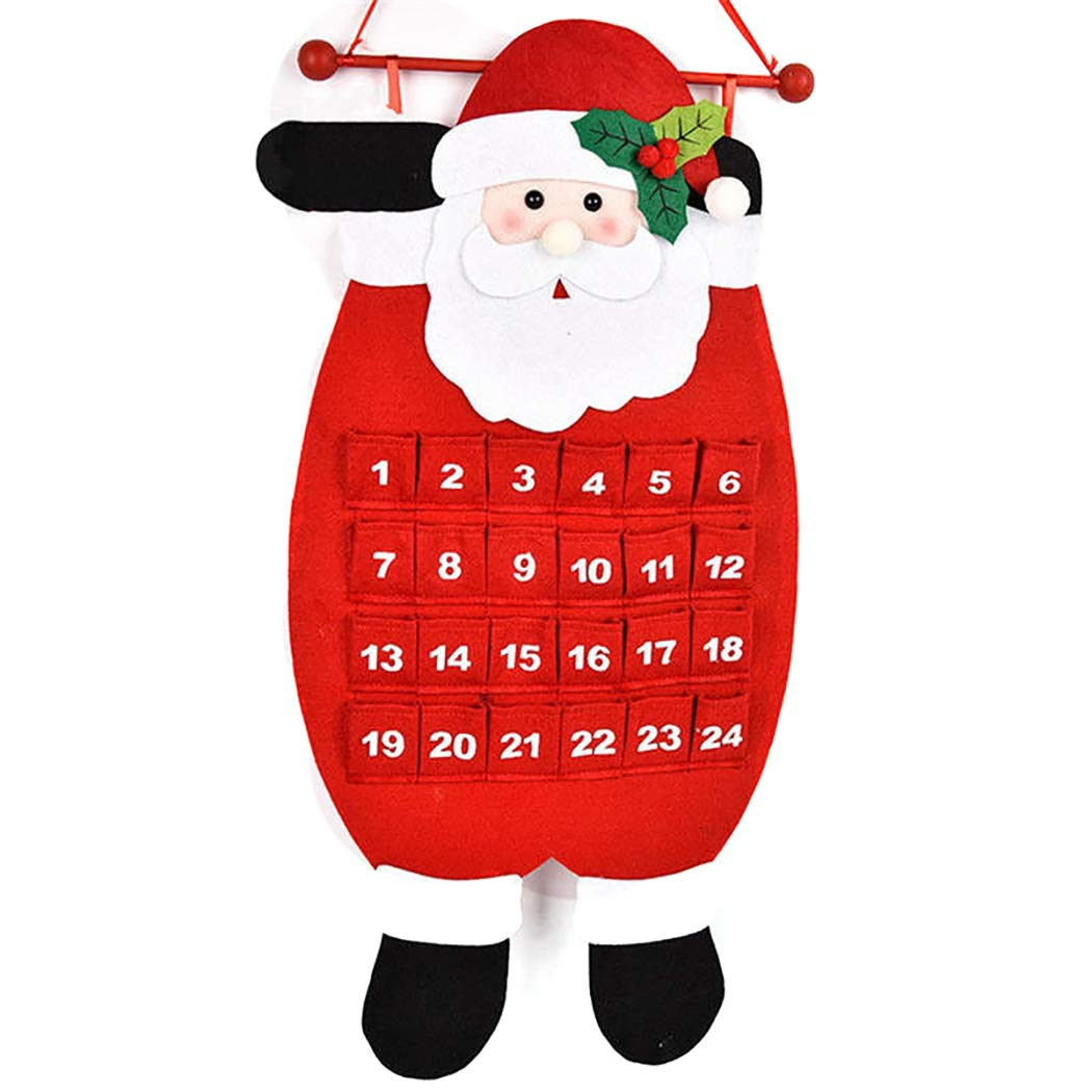 Justdolife Christmas Advent Calendar Countdown Calendar Hanging Ornament