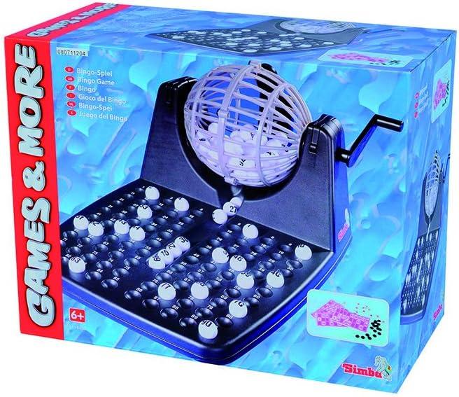Simba - 106150493 - Juego de Mesa - Bingo con Tambores y Accesorios - 30x23x18 cm (de importación de Alemania): Amazon.es: Juguetes y juegos