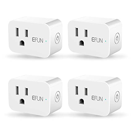 EFUN SH331W 2 4GHz Wi-fi Smart Plug,Energy Motoring,No Hub Required,Outlet  Socket,10A(Works for Appliance below 1200 Watts),Works with Alexa/Google