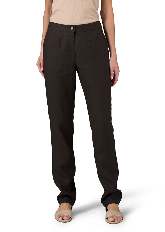 Vivid Linen Long Straight Leg Pants