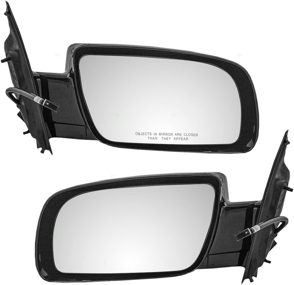 Driver and Passenger Power Side View Below Eyeline Mirrors Smooth Replacement for Chevrolet GMC Van 15757375 15757376