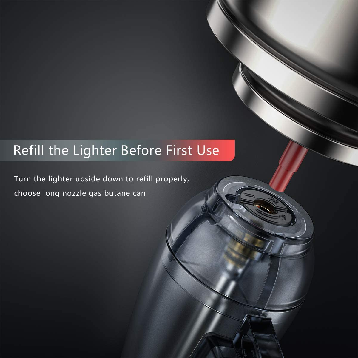 Windproof Torch Lighter VVAY 2 x Turbo Jet Lighters Gas Butane Refillable,Adjustable Flame Sold without Gas