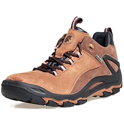 ROCKROOSTER Hiking Shoes for Mens,4 inch Waterproof Trekking Shoes,Non Slip,Soft Toe,Breathable,Lightweight,Anti-Fatigue,KS252 KS253