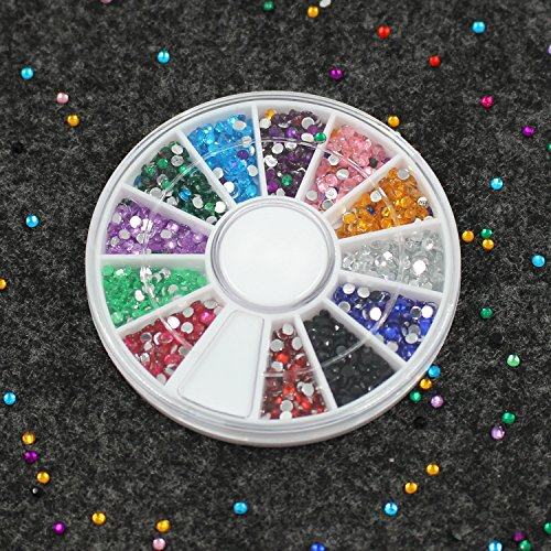 Nail Art Set, Tape Line Nail Stickers, Colored Rhinestones Decoration, 45 Sheets Nail Art Stickers, Gradient Nails Sponges for Color Fade Manicure, Dotting Marbleizing Pen for Pedicure by Sinsun (Image #1)