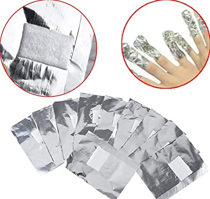 100 envoltorios de papel de aluminio con almohadillas de algodón sin pelusa para esmalte de uñas acrílico Shellac, Simple-Fast-Gentle: Amazon.es: Belleza