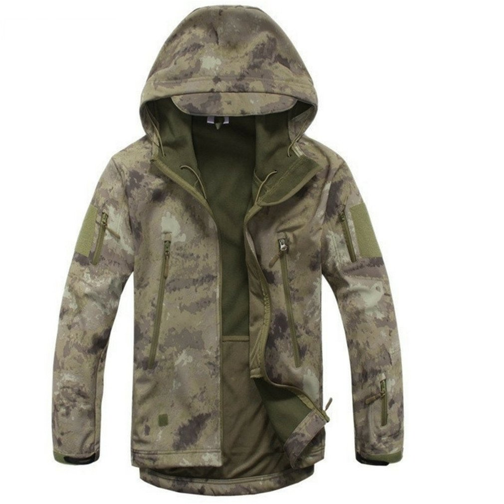 Lurker Shark Skin Softshell Military Tactical Jacket Men Waterproof Coat Camo Khaki L