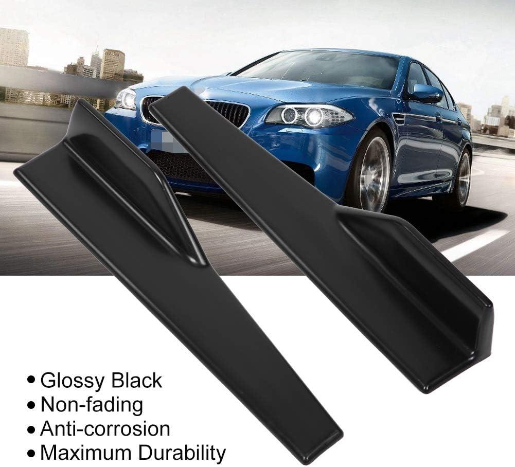 2 pcs Universal Glossy Black Side Skirt Rocker Splitter Winglet Wings Canard Diffuser Aramox Car Side Skirt