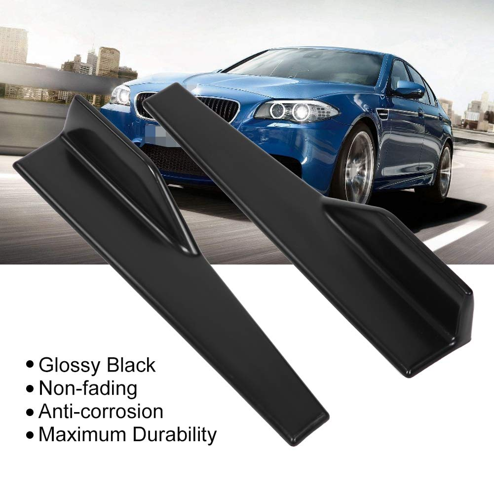 Aramox Car Side Skirt 2 pcs Universal Glossy Black Side Skirt Rocker Splitter Winglet Wings Canard Diffuser