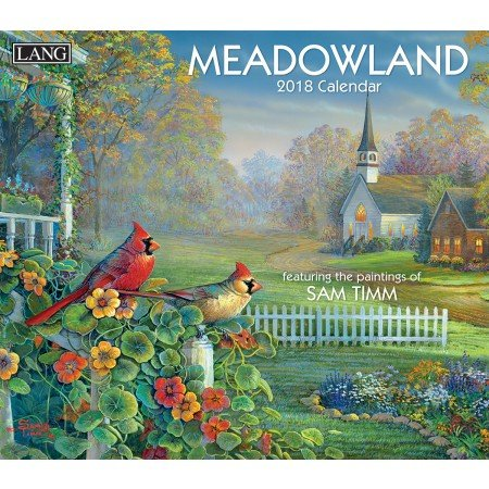 LANG - 2018 Wall Calendar - 'Meadowland', Artwork by Sam Timm - 12 Month - Open 13 3/8' X 24'