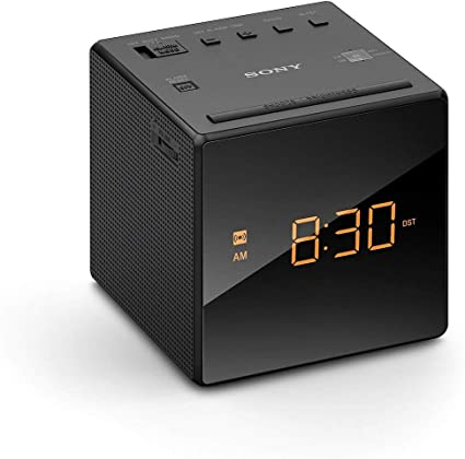 Sony ICF-C1T Desktop Alarm Clock AM FM Radio Black Automatic Set UP With Box
