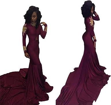 Long Sleeve Prom Dress Mermaid African