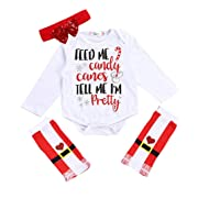 WuyiMC Newborn Boys Girls Winter Romper Outfit Baby Coming Home Clothes Pajamas Headband Leg Warmers Set (3-6 Months,80CM, White)