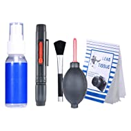 Neewer 6-IN-1 Professional Cleaning Kit for DSLR Cameras and Sensitive Electronics (Canon, Nikon, Pentax, Sony, Telescopes and Binoculars)