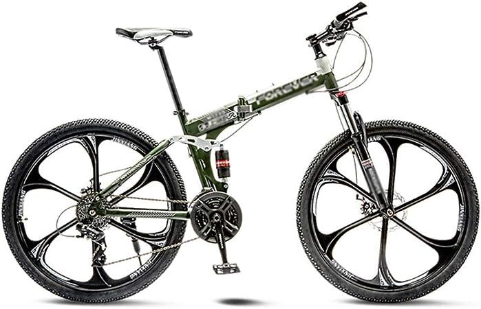 RYP Bicicleta para Joven Bicicletas De Carretera Las Bicicletas MTB MTB Camino de la Bicicleta Plegable de los Hombres de 21 Pulgadas, Llantas de Velocidad 24/26 for Mujer for el Adulto: Amazon.es: