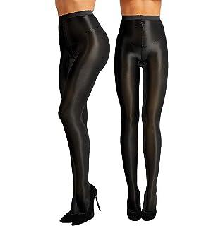 0cb1279083b 2 Pairs Shaping Socks Oil Socks Shiny Silk Stockings Pantyhose Dance Tights