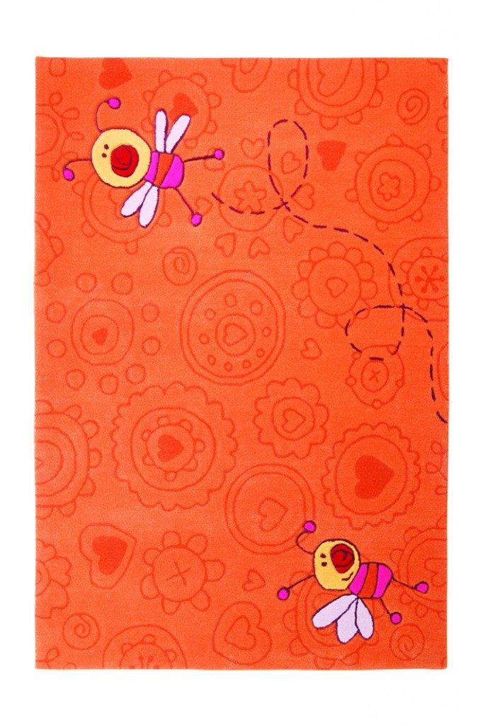 Bambini tappeto Sigikid Happy Zoo Summ-Summ SK 3340 –  01 Arancione, arancione, 70 x 140 cm