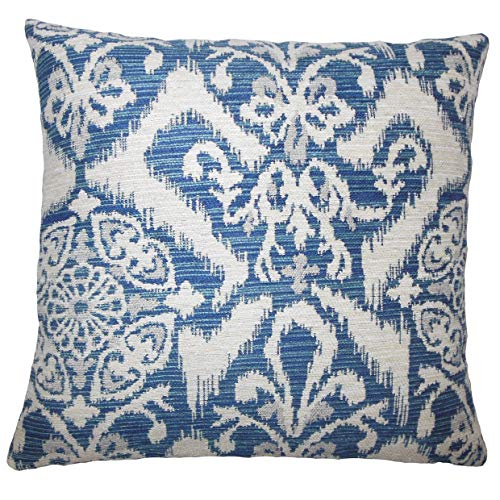 The Pillow Collection Ingalill Ikat Bedding Sham Indigo Euro/26