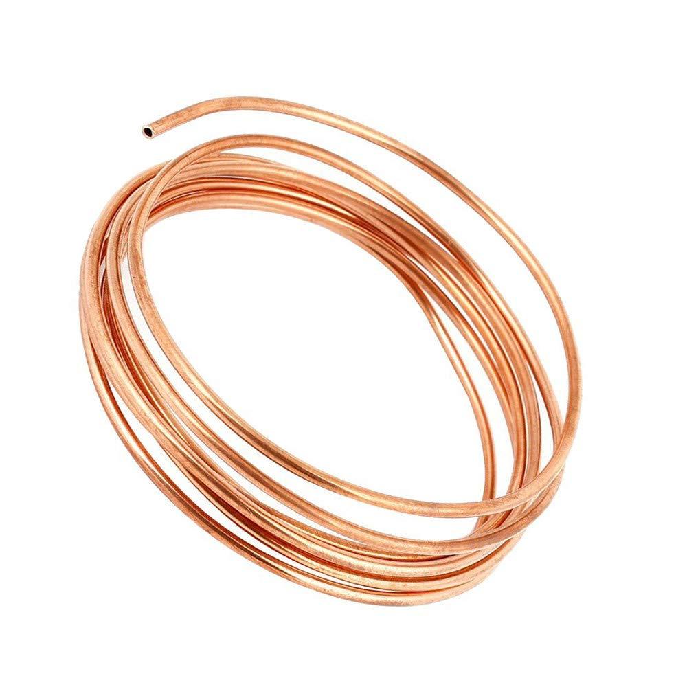 Tuyau en cuivre YOUTTOO 5//16 de diam/ètre 3//4//6 m de tuyau en laiton souple Tuyau de climatisation pour r/éfrig/érant gaz R410A