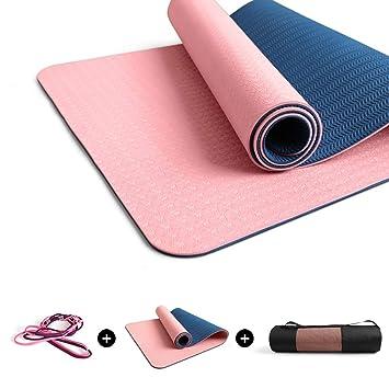 BMINYA Estera De Yoga Antideslizante Pilates Ejercicio 6/8 ...