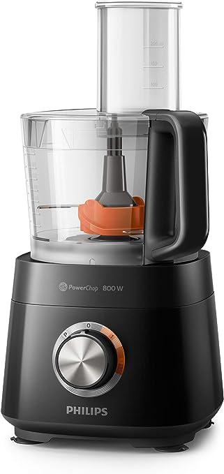 Philips Robot de cocina HR7510/10 - Robot de cocina compacto todo en uno, amasa, bate, corta, ralla y licúa, 29 funciones, hasta 5 raciones, 800 W, 1,5 L: Amazon.es: Hogar