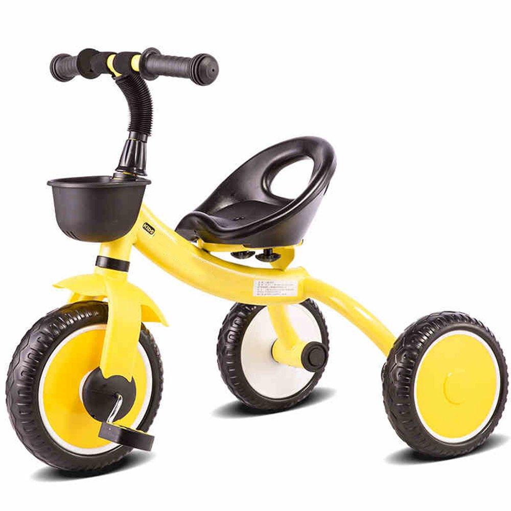 YANGFEI 子ども用自転車 3輪の自転車子供の三輪車ベビーベビーカー軽量の子供2-6歳のためのベビーバイク 212歳 B07DWS581M イエロー いえろ゜ イエロー いえろ゜