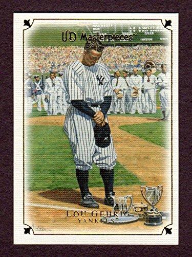 Lou Gehrig Memorabilia - Lou Gehrig 2007 Upper Deck Masterpieces Baseball Card (1939 Gehrig Delivers Emotional Speech) (Yankees)