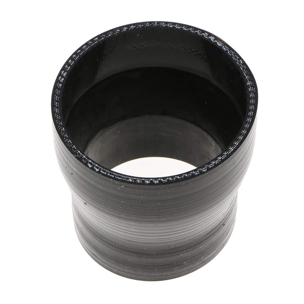 B Blesiya 4-ply Reinforced High Temp Silicone Reducer 2 to 2.5 inch for Intercooler Pipe Hose Turbo Intake Piping Black