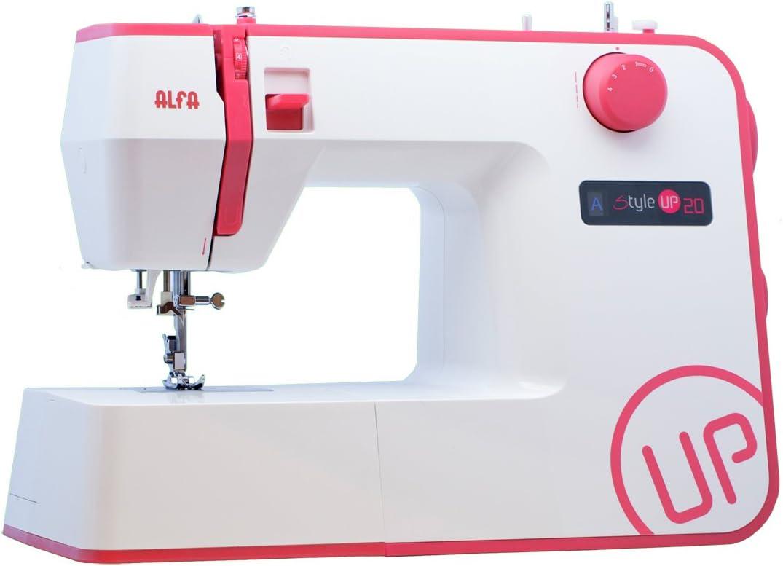 Alfa Style UP 20 - Máquina de Coser, Color Rosa: Amazon.es: Hogar
