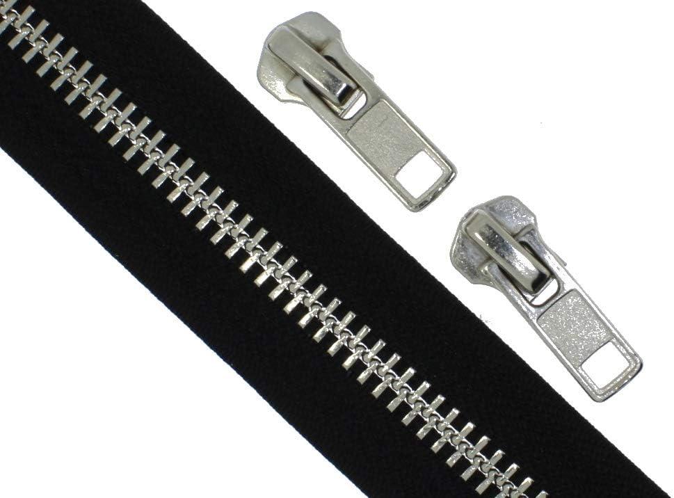 Endlos Reißverschlüsse Reißverschluss Kunststoff GROB meterware 1 Meter+2 Zipper