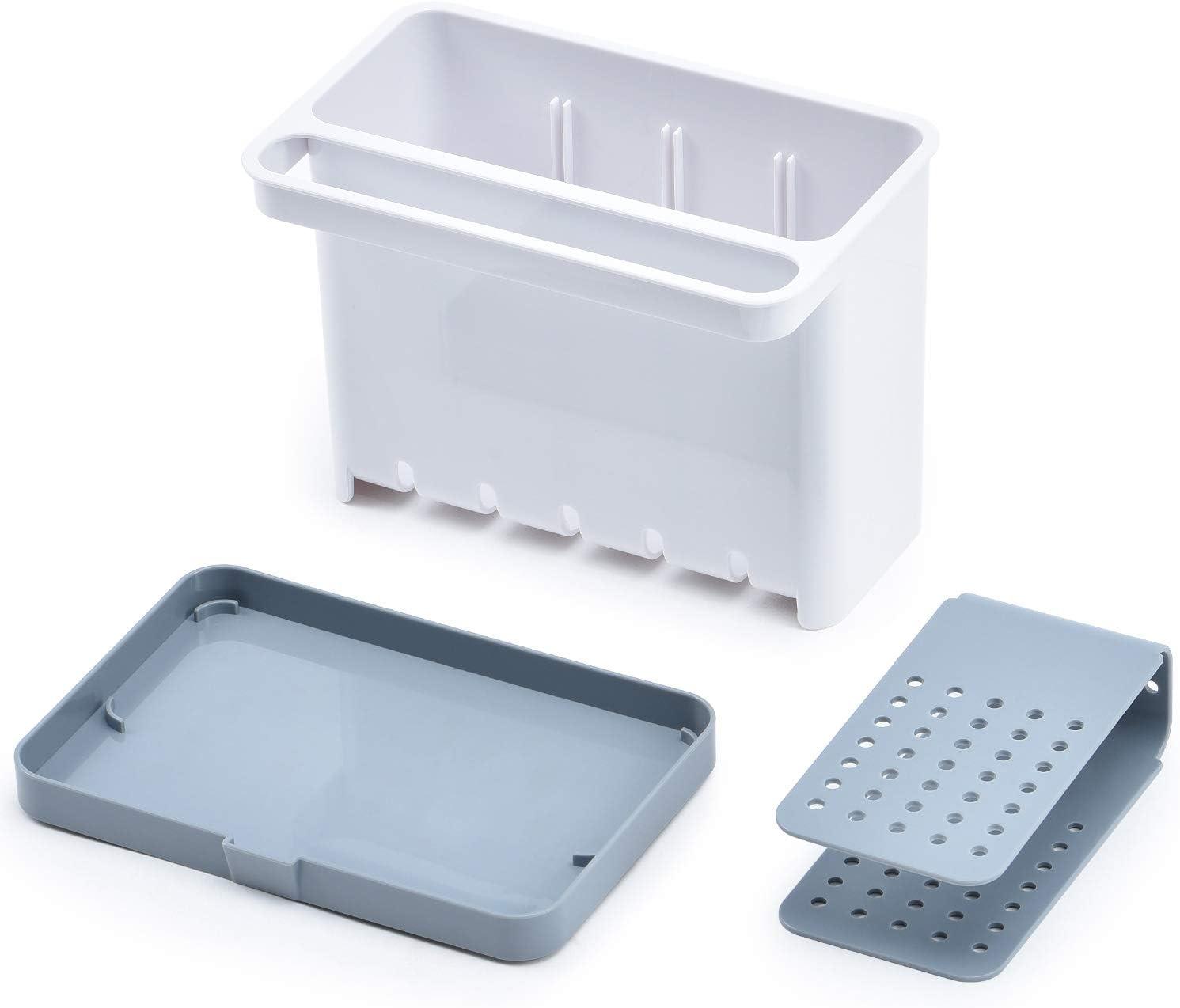 Kingrack Organizador de Utensilios de Fregadero,Organizador Utensilios,ABS,Cocina,17.5x12x13.5 cm Caddy Organizador de utensilios