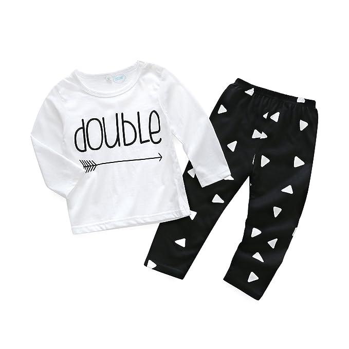 9ba5c26c72a3 Amazon.com  Kimocat Pants Clothing Set Unisex Baby 2pcs Long Sleeve ...