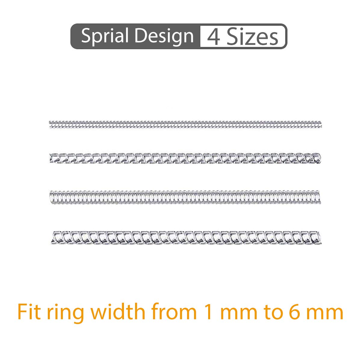 Ring Size Adjuster 2 Styles Invisible Ring Adjuster Sizer Reducer for Loose Rings 12 Sizes