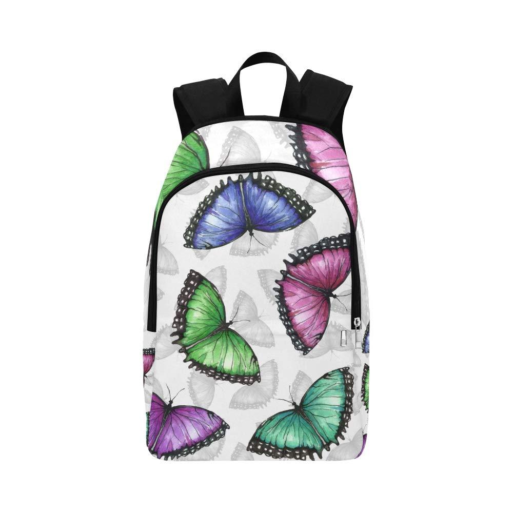 Collection colorée de Papillons Sac à Dos de Voyage Occasionnel de Sac à Dos de Sac à Dos d'université du Collège pour Les Hommes et Les Femmes