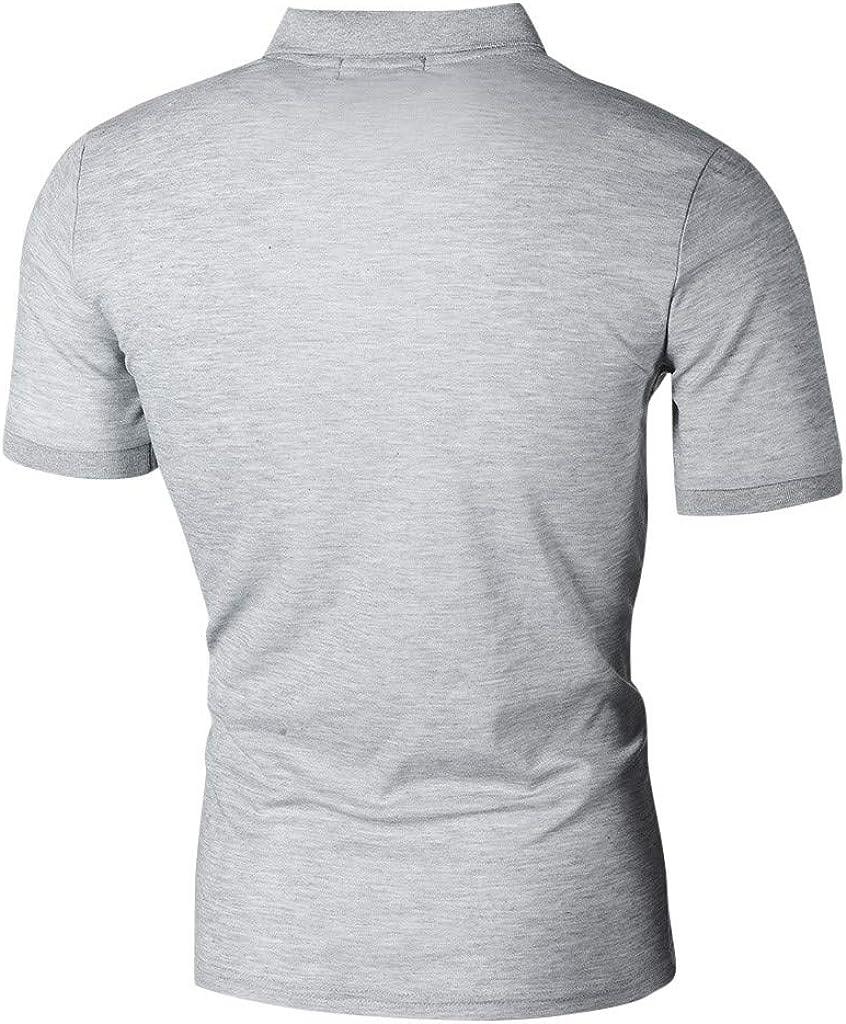 Luckycat Camisa Polo con Punta - Camisa Polo para Hombre Manga ...