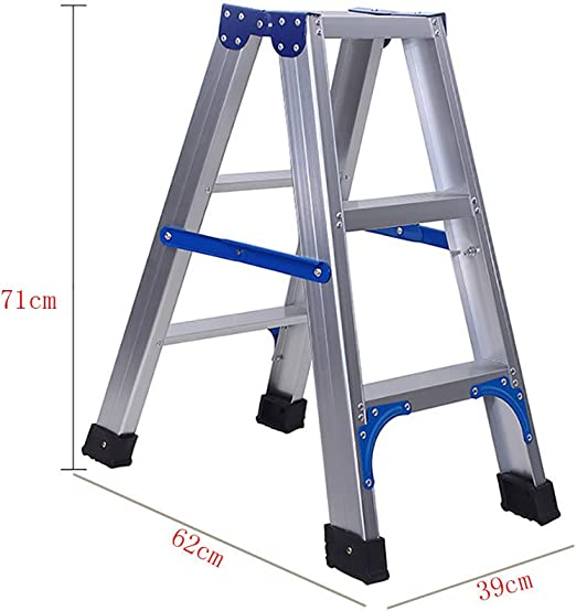 Qiangmei Escalera doméstica Taburete de Escalera de Aluminio ...