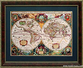 Amazon antique map of the world old world map a quality nova antique map of the world old world map a quality nova gumiabroncs Gallery