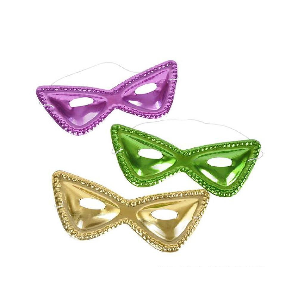 8'' Cat-Eye Mardi Gras Masks by Bargain World