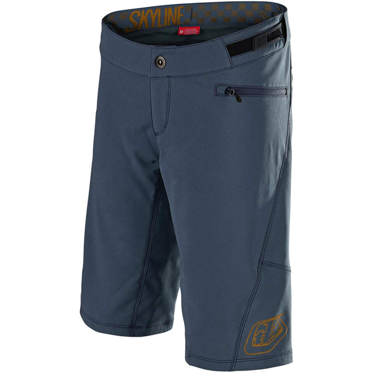 Troy Lee Designs Skyline Short with Liner - Women's Solid Slate/Bourbon, S by Troy Lee Designs (Image #1)