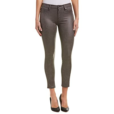 7 For All Mankind Womens Faux Leather Mid-Rise Skinny Pants