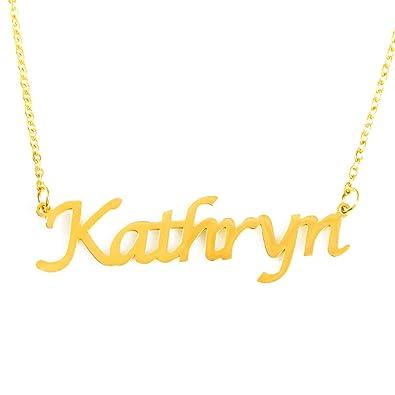 "Anniversary Gift 18ct Gold Plated Name Necklace /""KHADIJA/"" Birthday Gift"