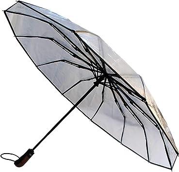 Robuste 9 Baleines 80KPH Parapluie Pliable Ouverture et Fermeture Automatiques Noir Toile a/ér/ée Renforc/é avec Fibre de Verre COLLAR AND CUFFS LONDON Vented Double Couche