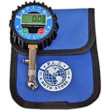 P.I. Auto Store Professional Digital Tire Pressure Gauge. 200Psi. Heavy Duty, highly accurate. With storage pouch. Best for all vehicles.